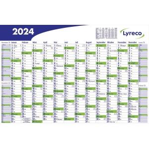 Plakatkalender 2019 Lyreco, 16 Monate / 1 Seite, 102 x 68,5cm