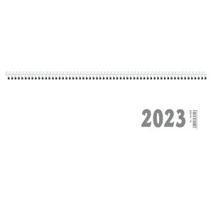 Tischquerkalender 2019 Zettler 116, 1 Woche / 2 Seiten, 30x10cm, weiß