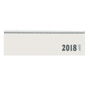 Tischquerkalender 2019 Zettler 139, 1 Woche / 2 Seiten, 36x10,5cm, weiß
