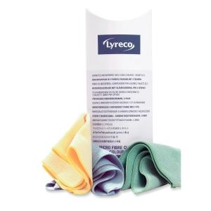 Microfasertücher Lyreco für komfortable Reinigung in 3 Farben 3 Stück