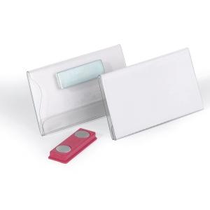 Namensschild Durable 8116, 40 x 75mm, mit Magnet, 25 Stück