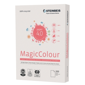 Kopierpapier Magic Colour, recycelt, A4, 80g, pastellgelb, 500 Blatt