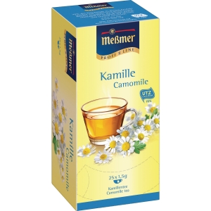 Tee Meßmer 586639 Kamille, 25 Beutel a 1,5g