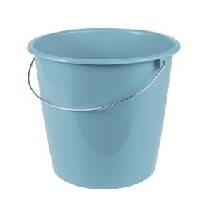 Putzeimer mit Drahtbügel, Fassungsvermögen: 10 Liter, blau