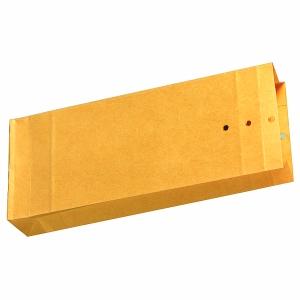 Musterbeutel 140 x 345 x 50mm, Stehboden + Seitenfalten, 140g, braun, 250 Stück