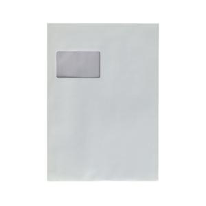 Versandtaschen C4, mit Fenster, Haftklebung, 90g, weiß, 10 Stück
