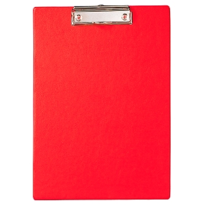 Klemmbrett Maul 23352, A4, folienüberzogener Karton, rot
