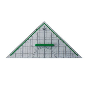 Geodreieck M+R 23320000, Hypotenusenlänge: 320mm, mit Griff, transparent