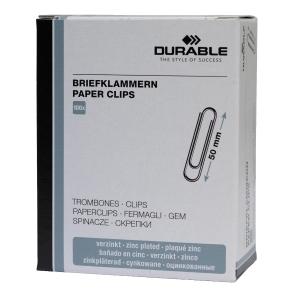 Aktenklammern Durable 1224, 50mm, glatt, verzinkt, 100 Stück