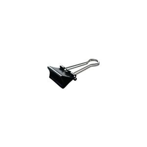 Foldback-Klemmer, Breite: 41mm, Klemmweite: 19mm, schwarz, 12 Stück