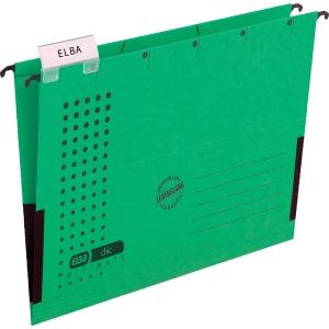 Hängetasche Elba chic 85743, A4, mit Leinenfröschen, grün