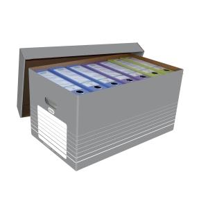 Archivbox Elba 83427, Tragegriffe, A4, grau/weiß