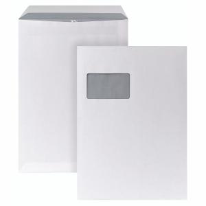 Versandtaschen Bong 5270477, C4, mit Fenster, Selbstklebung, 90g, weiß, 250 St