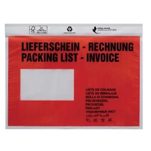 Dokumententaschen Docufix 1366, C6, mit Aufdruck Lieferschein, 250 Stück