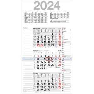 Wandkalender 2019 Bühner M3KPN, Kombi, 3 Monate / 1 Seite, 30x56cm