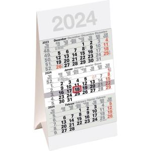 3-Monats-Tischkalender 2019 Bühner M3TK, 3 Monate / 1 Seite, 9,6 x 18,5cm