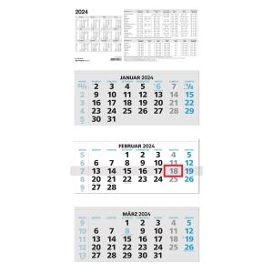 Dreimonatskalender 2019 Zettler 953, 3 Monate / 1 Seite, 32x70cm