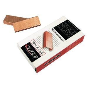 Heftklammern Laco K24/6, verkupfert, 1000 Stück