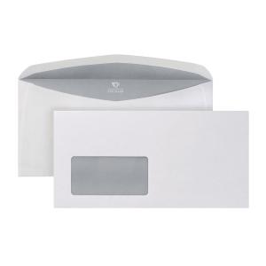 Kuvertierumschläge Bong 2526155, C6/5, mit Fenster, NK, 80g, weiß, 1000 Stück