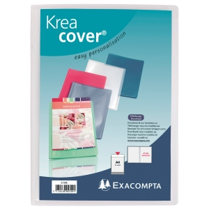 Sichtbuch Exacompta 5728E Krea Cover, A4, mit 20 Hüllen, transparent