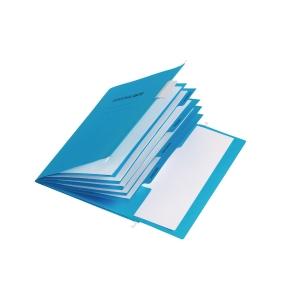 Hängemappe Pagna 44105, Personal, A4, aus Karton, 5 Fächer, blau