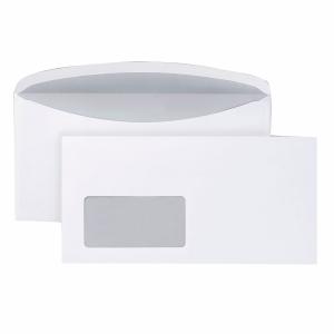 Kuvertierumschläge C6/5, mit Fenster, Nassklebung, 80g, weiß, 1000 Stück