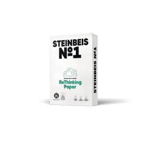 Kopierpapier Recycling Steinbeis Classic White, A4, 80g, 70er-Weiße, 500 Blatt