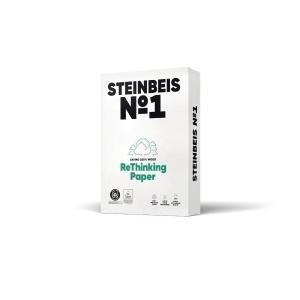 Kopierpapier Recycling Steinbeis Classic White, A3, 80g, 70er-Weiße, 500 Blatt