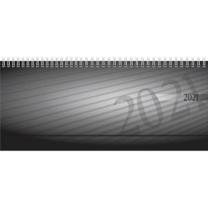 Tischquerkalender 2019 ide 36102 Septant, PP, 1Woche/2Seiten, 30,7x10,5cm, anthr