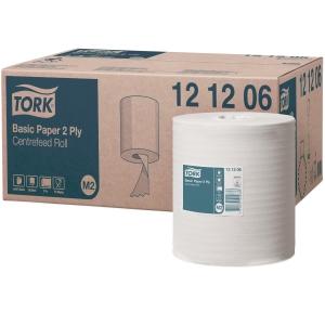 Papierhandtuch-Rolle Tork Universal 121206, für System M2, 2-lagig, 6 Rollen
