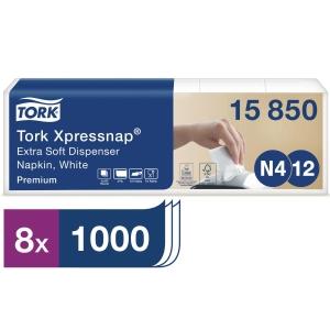 Spenderservietten Tork 15850, weiß, 5x200 Stück