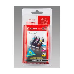 Tintenpatrone Canon 2934B007 - CL-521, 1 x cyan, 1 x magenta, 1 x gelb