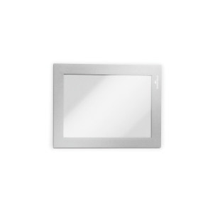 Infotasche Durable 4870, Duraframe, A6, selbstklebend, silber, 2 Stück