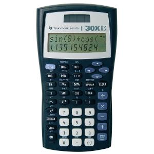 Taschenrechner Texas Instru. TI-30XIIS, 10+2stellig, Solar-/Batteriebetrieb, swz