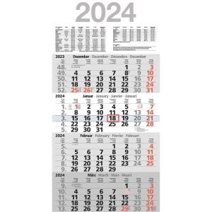 Viermonatskalender 2019 Bühner M4MF, 4 Monate / 1 Seite, 30x59cm