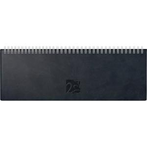 Tischquerkalender 2019 ide 31702 AC, 1 Woche / 2 Seiten, 30x10,5cm, schwarz
