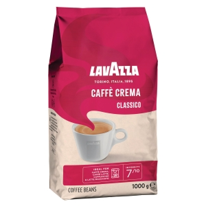 Kaffee Lavazza 899343 Caffe Crema Classico, ungemahlen, 1000g