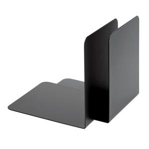 Buchstütze Alco 4302, Maße: 140 x 130 x 140mm, Metall, schwarz, 2 Stück
