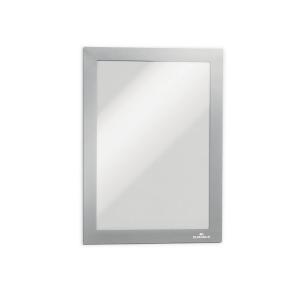Inforahmen Durable 4871, Duraframe, A5, selbstklebend, silber, 2 Stück