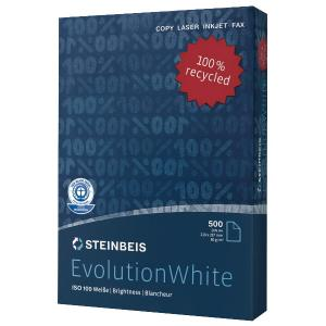 Kopierpapier Recycling Steinbeis Evolution White, A4, 80g, 2fach gelocht, 500Bl