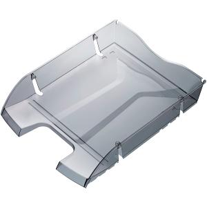Briefkorb Helit H23635, stapelbar, Maße: 275 x 355 x 66mm, grau/transparent