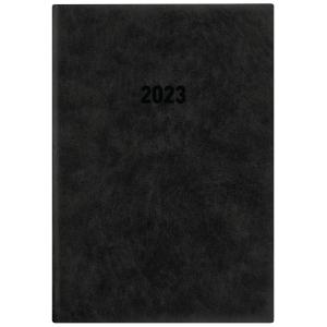 Buchkalender 2019 Zettler 836, 1 Tag / 1 Seite, A5, anthrazit