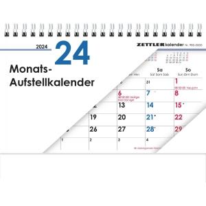 Aufstellkalender 2020 Zettler 985, 1 Monat / 1 Seite, 20 x 15cm