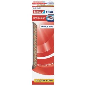 Klebefilm Tesa tesafilm 57401, Office-Box, 12mm x 10m, transparent, 12 Stück