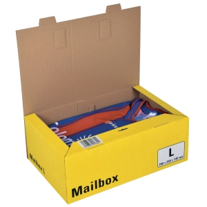 Versandbox Dinkhauser CP098.84, Innenmaße: 395 x 248 x 141mm, L, gelb