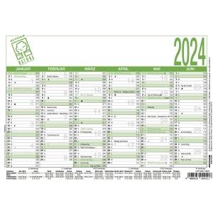 Tafelkalender 2020 Zettler 904UWS, 6 Monate / 1 Seite, A5