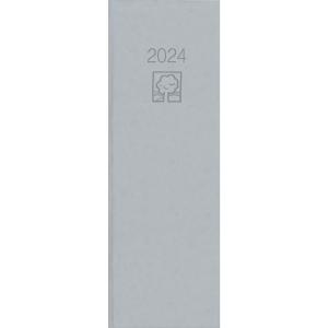 Tagebuch 2019 Zettter 801UWS, 2 Tage / 1 Seite, 105 x 295mm, grau
