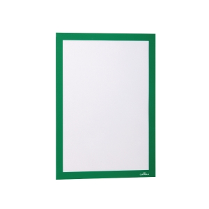Infotasche Durable 4872, Duraframe, A4, selbstklebend, grün, 2 Stück