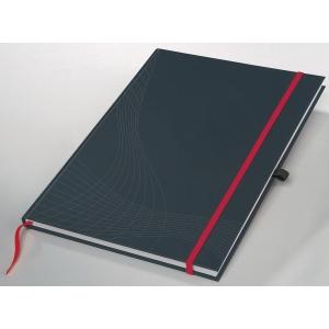 Notizbuch notizio 7027, gebunden, kariert, DIN A5, 90 g/m², 80 Blatt, dunkelgrau