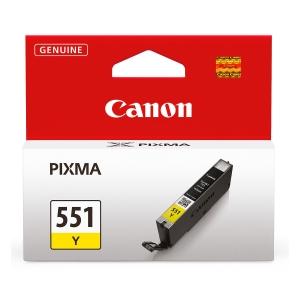 Tintenpatrone Canon 6511B001 - CLI-551Y, Reichweite: 304 Seiten, gelb